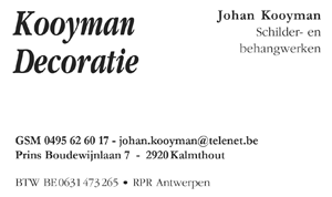 Kooyman decoratie